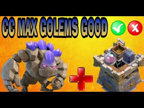 CLAN CASTLE MAX GOLEM GOOD?-CLASH OF CLANS-TH9