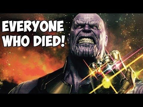 EVERYONE WHO DIES in Avengers: Infinity War! (SPOILERS)