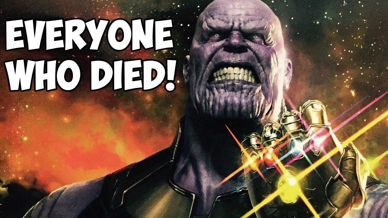 Everyone Who Dies In Avengers Infinity War Spoilers