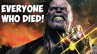 EVERYONE WHO DIES in Avengers: Infinity War! (SPOILERS)