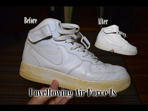 How to Unyellow Nike Air Force 1s!