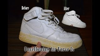 How to Unyellow Nike Air Force 1s