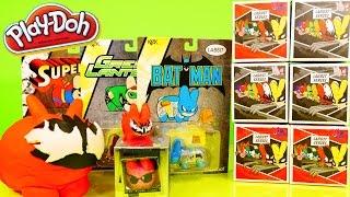 play doh surprise egg kidrobot marvel labbits blind box unboxing toys dc batman superman dctc