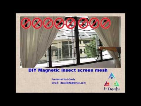 DIY Magnetic Insect Screen Kit