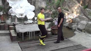Sifu Sergio explaining a Wing Chun Front Kick technique