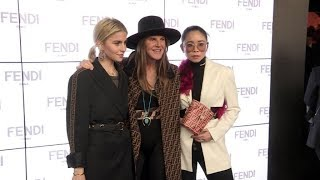 Caroline Daur, Anna Dello Russo and more front row for the Fendi Show in Milan