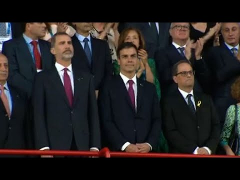 AFP news agency: King Felipe VI, Sanchez and Torra make first joint appearance