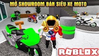 ROBLOX | Mở Showroom Bán Siêu Xe MOTO Cho Fan | Motorcycle Dealership Tycoon | Vamy Trần