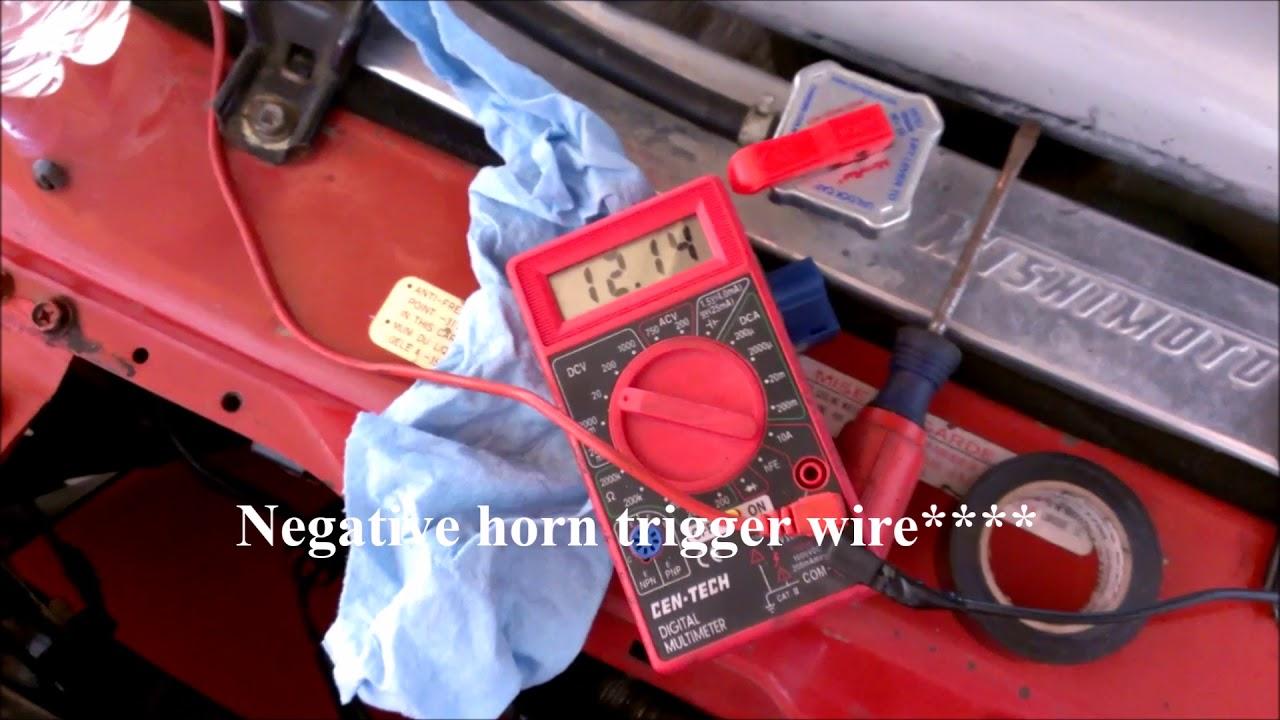DIY: 240sx Horn Troubleshooting/Horn Repair Part 1 of 2 on