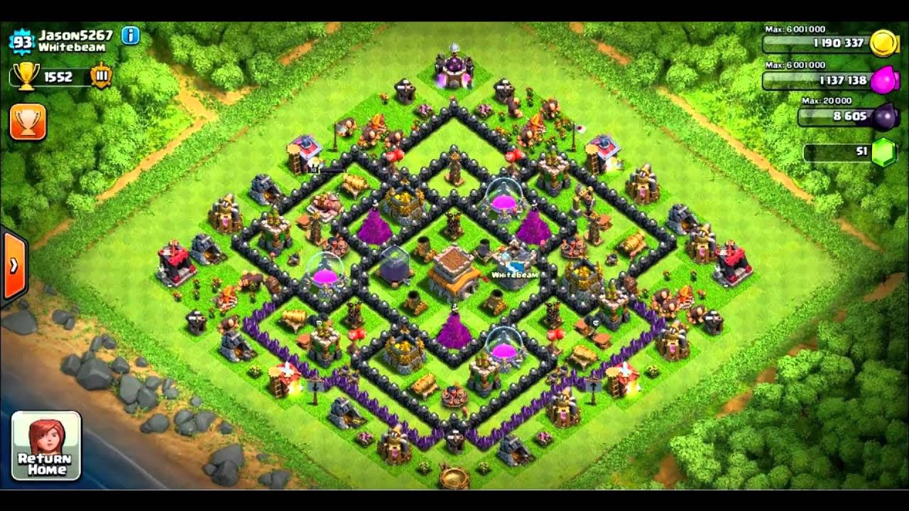 Coc Town Hall 5 Base