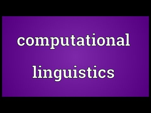 Computational linguistics Meaning