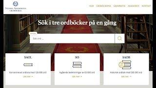 Lär dig svenska - Snabba tips - Svenska akademiens ordböcker.