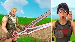 How to DUAL WIELD the Infinity Blade! FUNNY vs LUCKY vs TROLLS - Fortnite Funny Moments