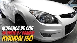 Envelopamento Hyundai i30 mudan a de cor, era preto ficou Branco. смотреть