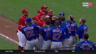 Cubs and Reds benches clear: Amir Garrett comments on exchange with Javy Baez