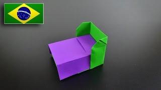 Origami: Cama - Instruções em Português BR