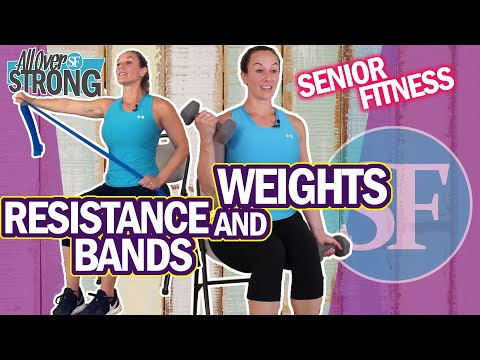 Strength Exercises For Seniors And Beginners Using Resistance Bands And Weights