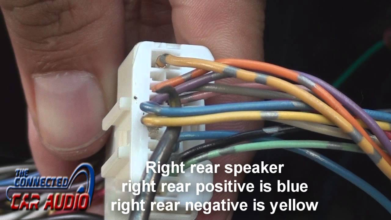 Nissan Versa stereo wiring 2012 and up - YouTube