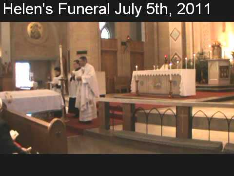 Helen's Funeral Visitation, Funeral & Reception July 5th, 2011.