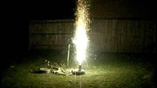 Garden Fireworks - Part 1 - 26/10/2009