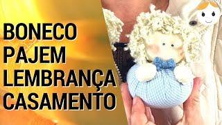 BONECO LEMBRANÇA PAJEM DE CASAMENTO