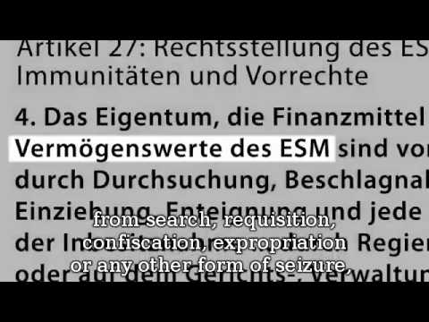 ESM the New Banking Dictator in Europe