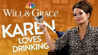 Karen Walker Can't Stop Talking About Alcohol - Will & Grace (Mashup)