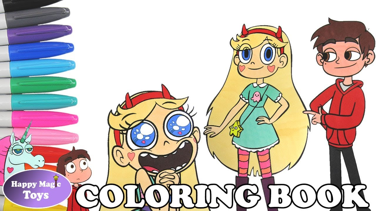 Star Vs The Forces Of Evil Coloring Book Compilation Svtfoe Butterfly Marco Pony Head Colouring