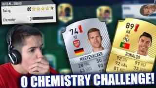 0 CHEMISTRY TEAM CHALLENGE!! | FIFA 17