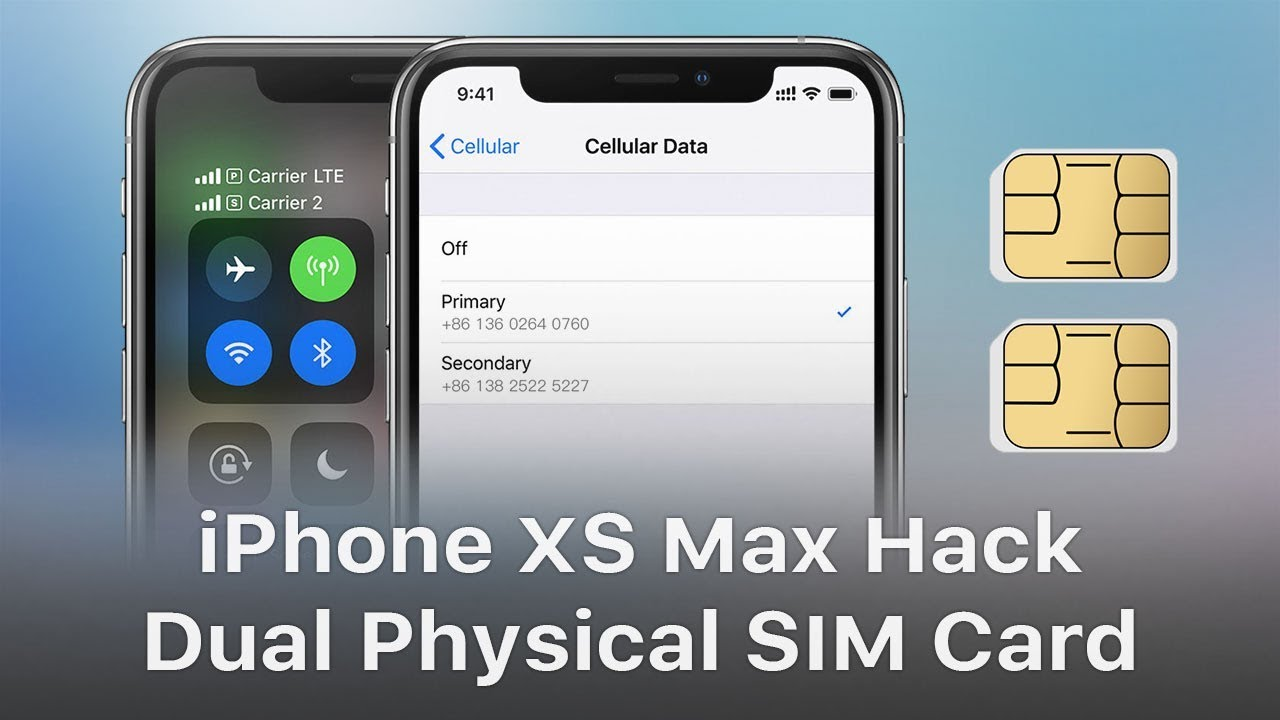 quality design 7b826 c214e iPhone XS Max Hack - Single SIM Card to Physical Dual SIM Card