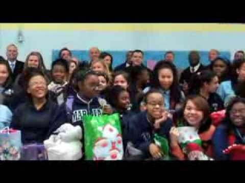 Cintas Surprise Christmas Party for Marian Middle School