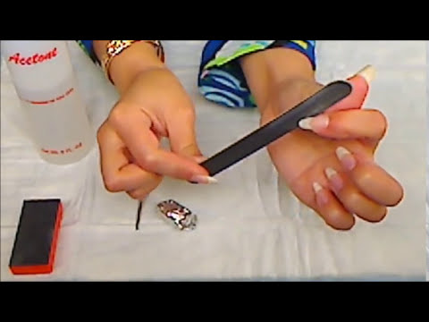 How to DIY safely remove soak off gel nail polish foil method at ...