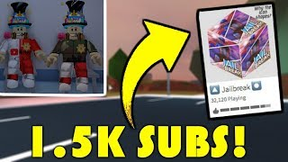 1.5K SUBSCRIBER SPECIAL! | BRAND NEW MERCH! | NEW Badimo Game Coming Soon! | ROBLOX Jailbreak LIVE🔴