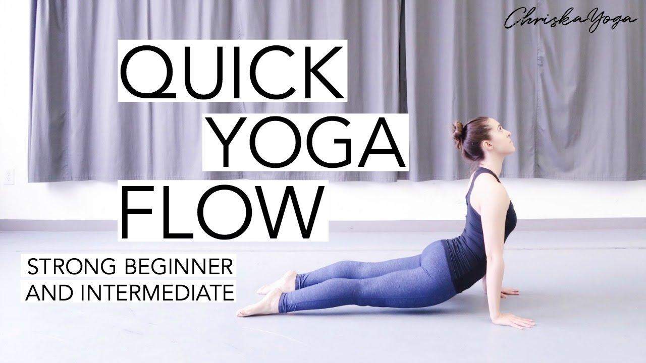 Quick Vinyasa Yoga Flow | 15 Min Strong Beginner and Intermediate Vinyasa  Yoga | ChriskaYoga