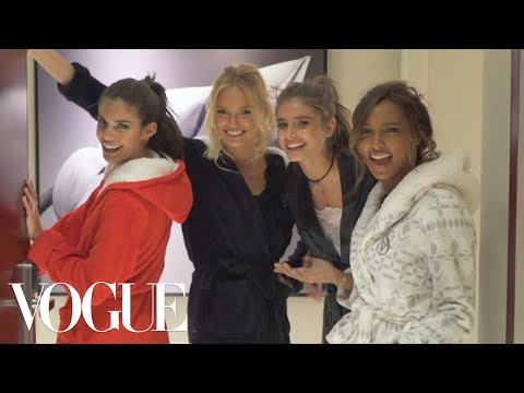 Victorias Secret Angels Sleepover Taylor Hill, Jasmine Tookes, and More Prep for the 2016 Show