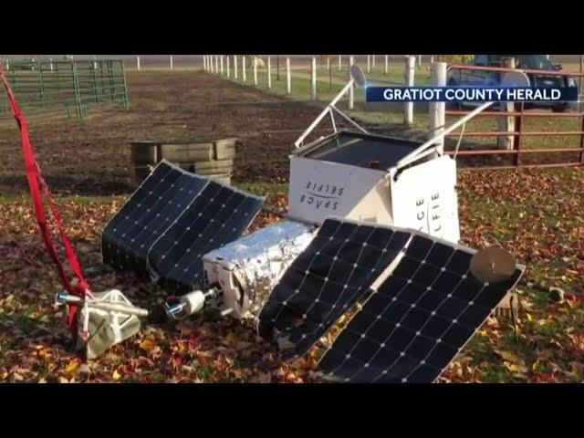 Space satellite falls into backyard in Saginaw County