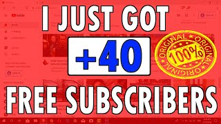 GET +40 FREE YOUTUBE SUBSCRIBERS JUST IN 5 MINUTES EVERY 12 HOURS IN 2020
