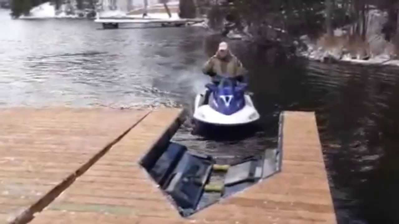 DIY Single Jet Ski Lift Dock Kit | More Ski lift and Jet ski ideas