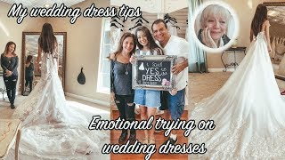Emotional REAL Wedding Dress Shopping and Tips for First Time Shoppers| AMJ VIDEOS
