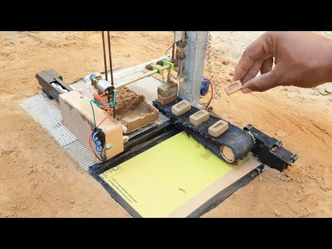 How To Make Brick Mini Machine Construction [ Science Project Cnc ]
