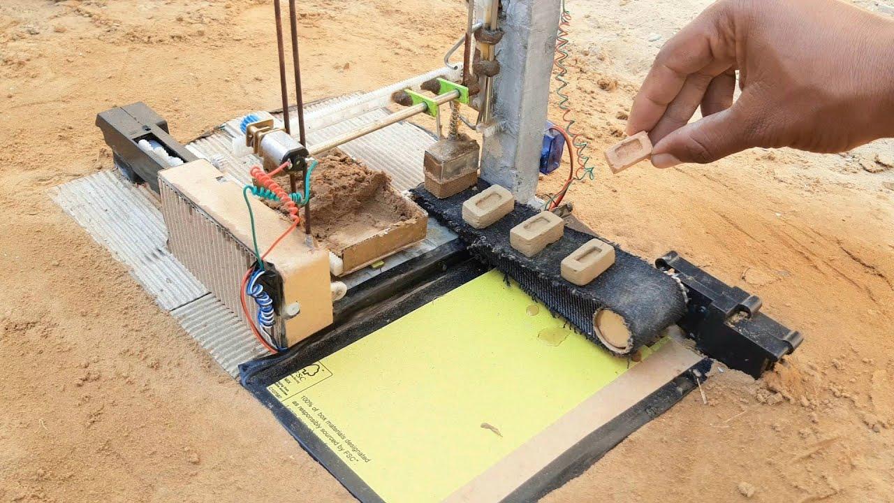how to make Brick mini cnc machine science project