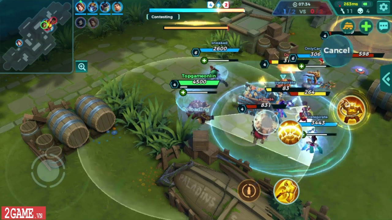 Paladins Strike - Game MOBA di động cho người chơi thỏa sức lao vào combat