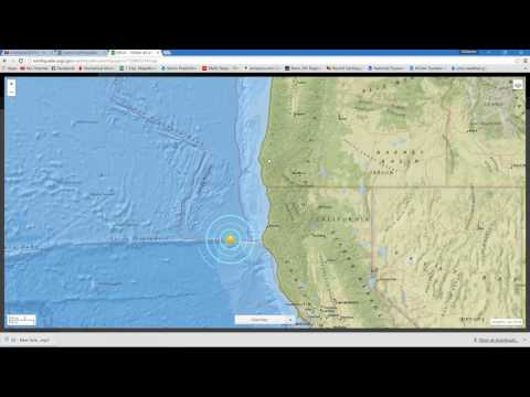 Mw5.7 Earthquake off Northern California Coastline 9/2/2016
