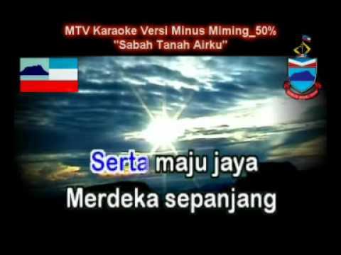 Lagu Sabah Tanah Airku (MTV Karaoke - Minus Miming)
