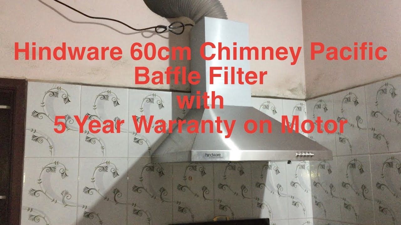 Hindware 60cm Hood Chimney Pacific Baffle Filter With 5 Year Warranty On  Motor
