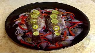 Запеченная рыба с рисом по-египетски