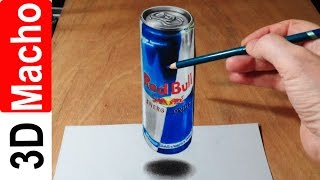 Банка Red Bull обман зрения 3D рисунок 3D drawing(Канал 3D Macho: https://www.youtube.com/user/3DMacho Ссылка на это видео: https://www.youtube.com/watch?v=yjQRxvOXMIs Популярное видео: ..., 2014-10-22T08:14:46.000Z)