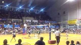141028 unigames volleyball finals w dlsu nu set 3 2
