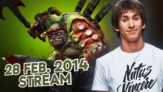 Dota 2 Stream: Na`Vi Dendi - Pudge (Gameplay & Commentary)