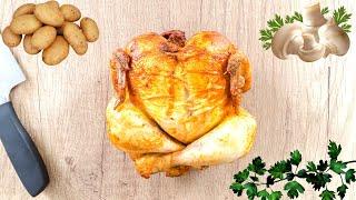 Курица с картошкой и грибами в духовке